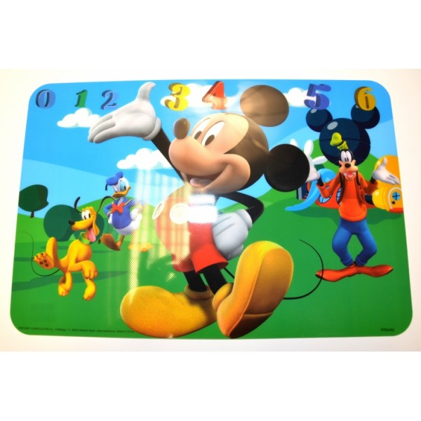 Disney Mickey Mouse Clubhouse numbers Placemat