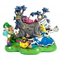 Disneyland Paris Alice in Wonderland Tea Party Diorama Figurine