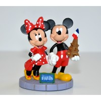 Disneyland Paris Mickey and Minnie Eiffel Tower Figurine