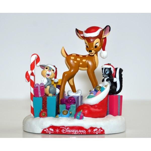 Disney Bambi and Friends Christmas Figurine, Disneyland Paris