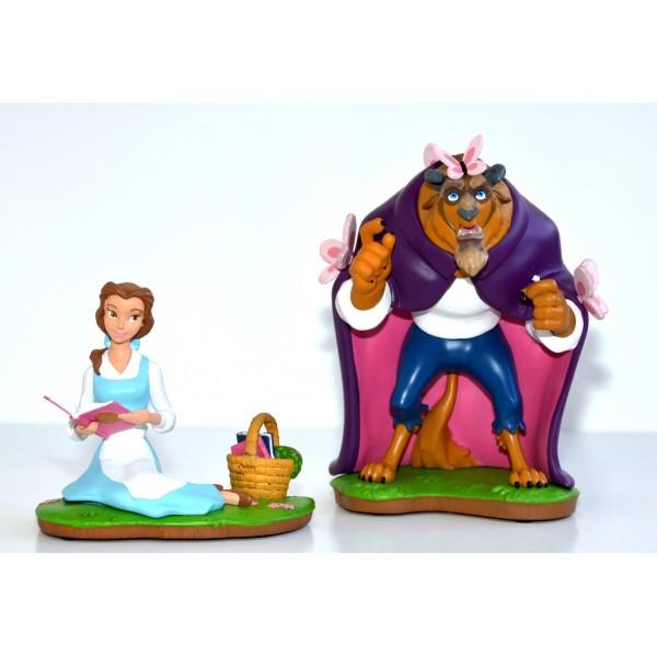 Disney Beauty and the Beast Set of two Figurines, Disneyland Paris Original