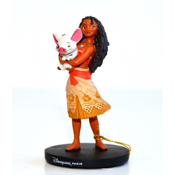 Princess Moana and Pua figurine, Disneyland Paris