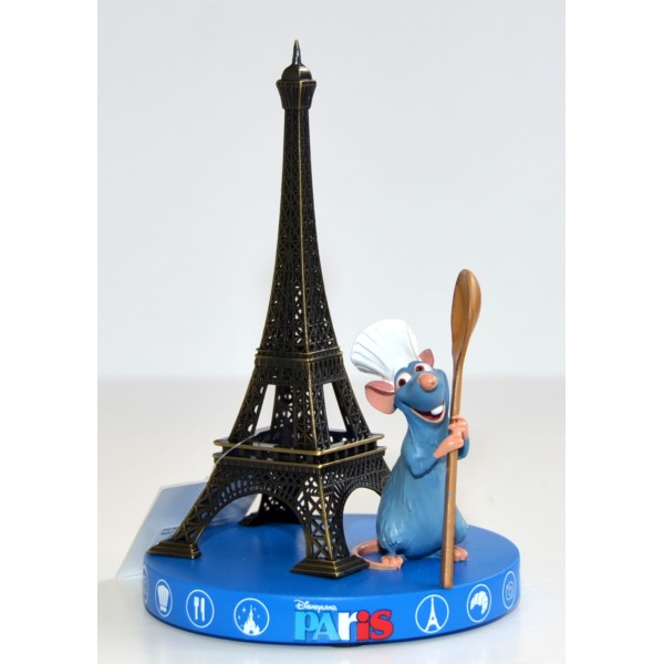 Ratatouille and Eiffel Tower Souvenir Figurine