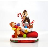 Disneyland Paris Chip and Dale Christmas Figurine