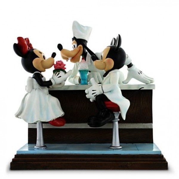 2e9194b3568719 Disney Figurine - After the Prom - Mickey   Minnie Mouse with Goofy