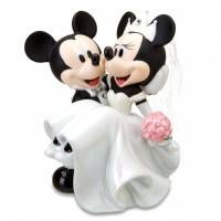 Mickey and Minnie Ceramic Wedding Figurine