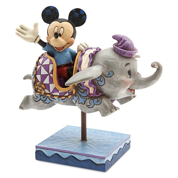Disney Traditions by Jim Shore - Mickey Mouse and Dumbo Flying Elephants Figurine