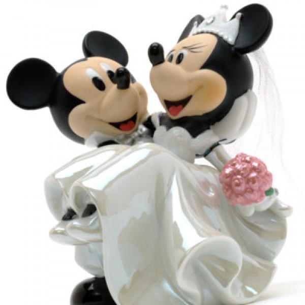 Mickey And Minnie Wedding.Mickey And Minnie Ceramic Wedding Figurine