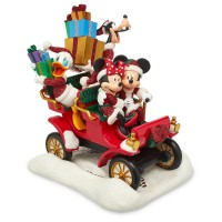 Santa Mickey Mouse and Friends in Car Figure