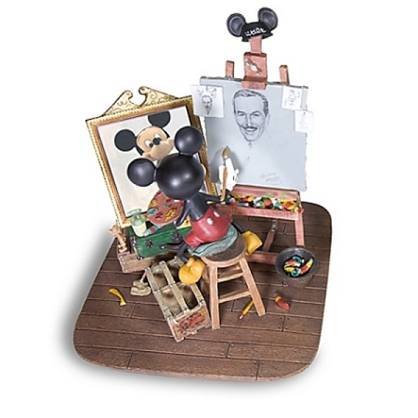 Self Portrait - Walt Disney and Mickey Mouse Figurine
