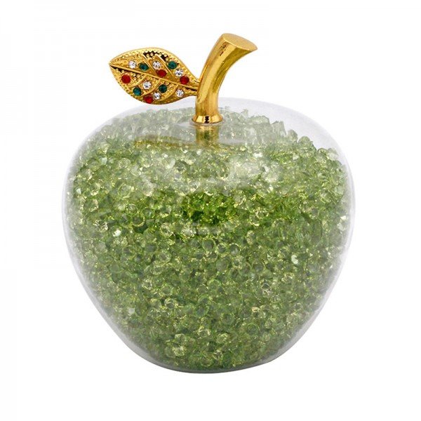 Disney Snow White Apple with Green Crystals, Arribas Glass Collection