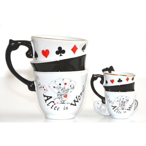 Alice in Wonderland Stacked Mug and stacked ornament set, New collection Disneyland Paris