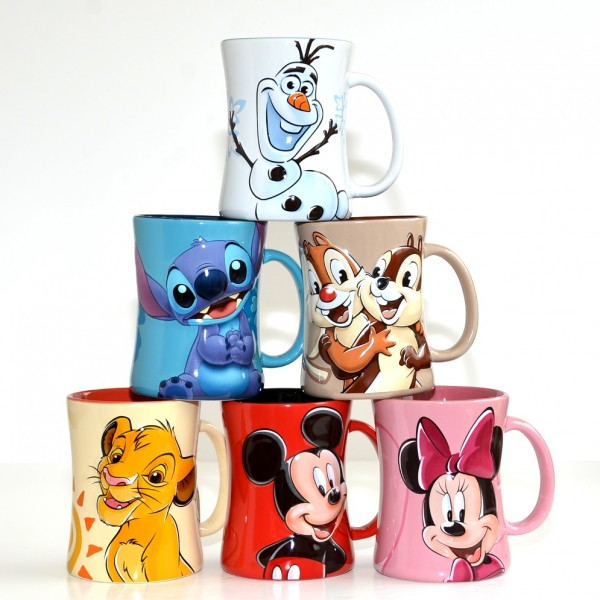 Disney Characters Portrait Coffee Mugs - Set of 6, Disneyland Paris