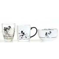 Mickey Mouse Comic Strip BW Breakfast Set, Disneyland Paris