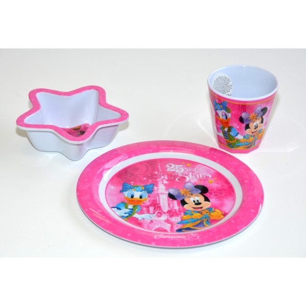 Disneyland Paris 25 Anniversary Minnie Mouse Breakfast Set