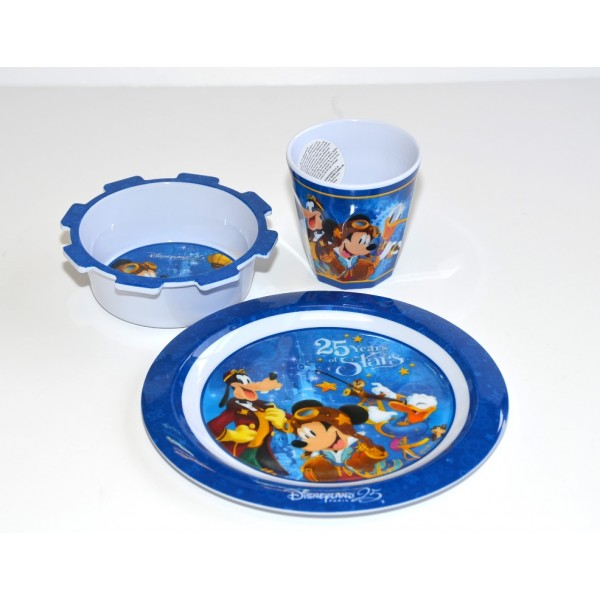 Disneyland Paris 25 Anniversary Mickey Mouse Breakfast Set