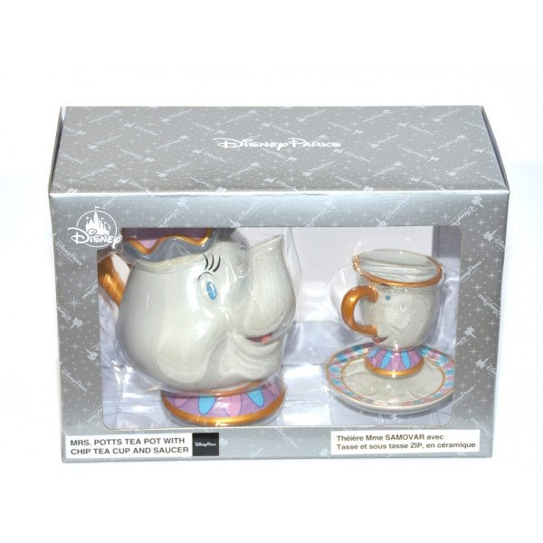 Beauty and the Beast Mrs Potts and Chip Teapot Teacup Saucer Set