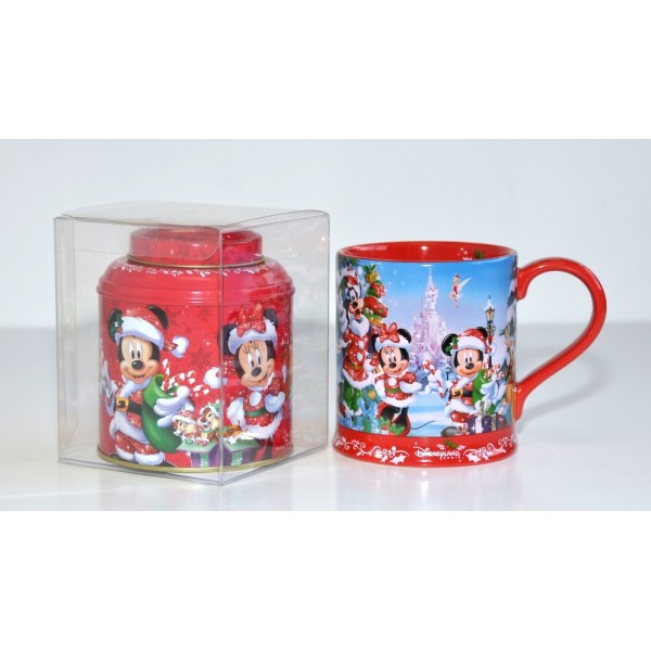 Disneyland Paris Christmas Mug and Tea Gift Set