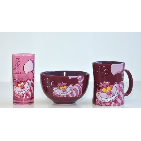 Disney Character Portrait Cheshire Cat Breakfast Set