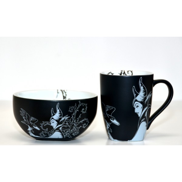 Disney Maleficent Black and White Bowl