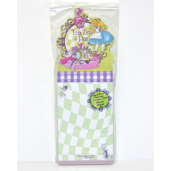 Disney Alice Magnetic Shopping list