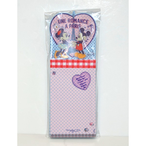 Disneyland Paris Authentic Bistro Collection Mickey and Minnie Mouse Magnetic Shopping list