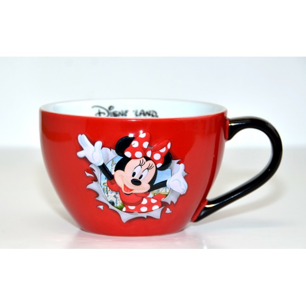 Disneyland Paris Minnie Mouse Burst Bowl with handle