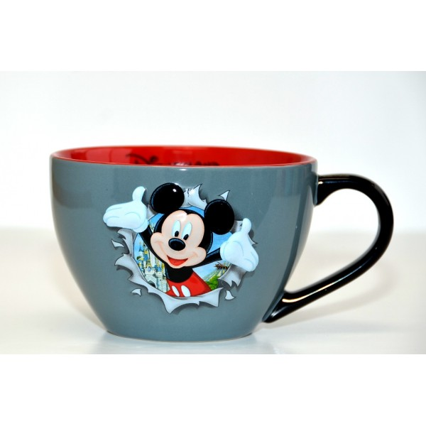 Disneyland Paris Mickey Mouse Burst Bowl with handle