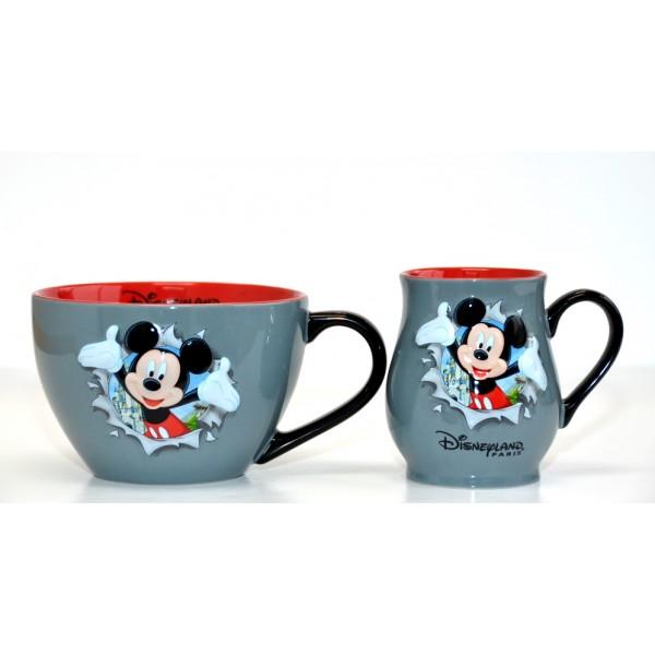 Disneyland Paris Mickey Mouse Burst Mug and Bowl Set