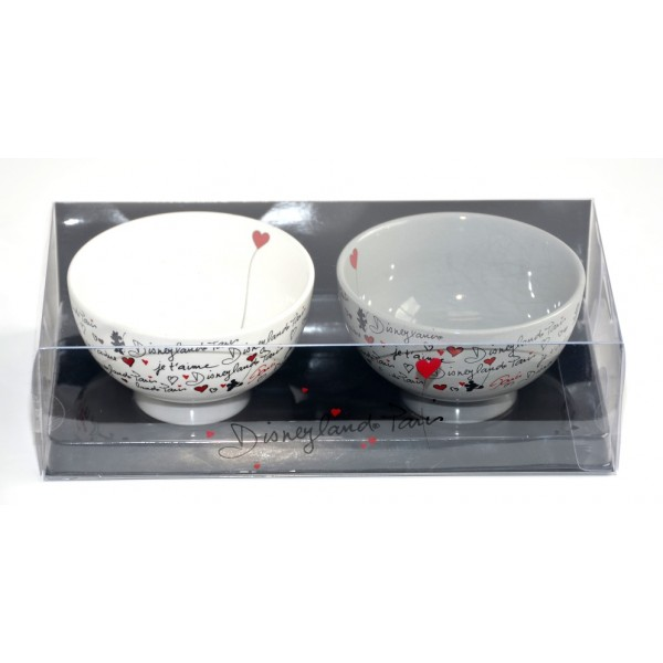 Mickey and Minnie Amour Collection bowl, Set of 2