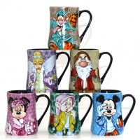 Disney Mornings Coffee Mugs -  Set of 6