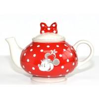 Disney Minnie Mouse red Teapot, Disneyland Paris