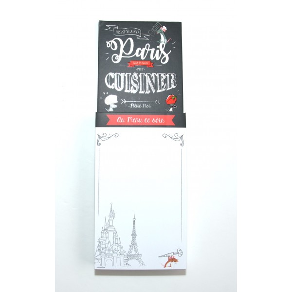 Disney Gourmet Magnetic Shopping list, Disneyland Paris