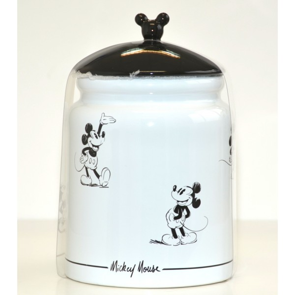 Disneyland Paris Mickey Mouse Comic Black and White Cookie Strip jar