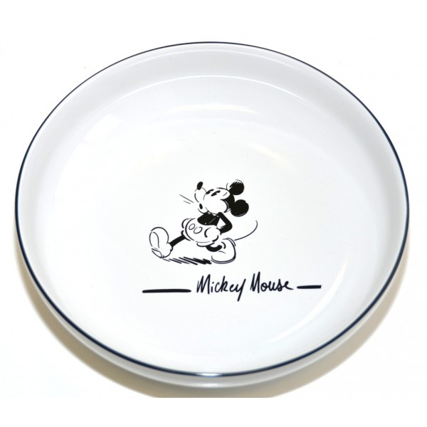 Disneyland Paris Mickey Mouse Comic Black and White pasta plate