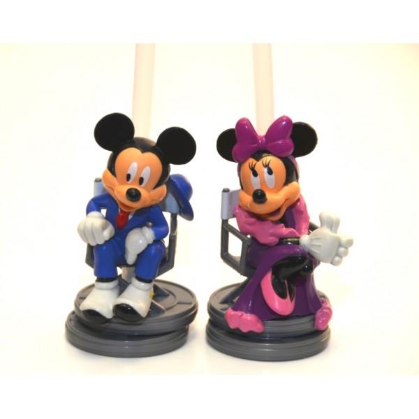 Disney Bottle Cap Straw - Mickey and Minnie