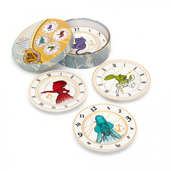 Set of 4 Plates Alice In Wonderland