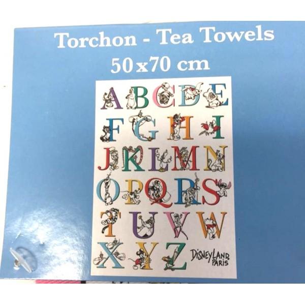 Disney ABC Characters Tea Towel