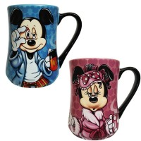 Disney Mickey and Minnie Mouse Coffee Mug Mornings Set of 2