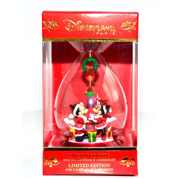 Mickey and Minnie Mouse Limited Edition Christmas Bauble, Disneyland Paris