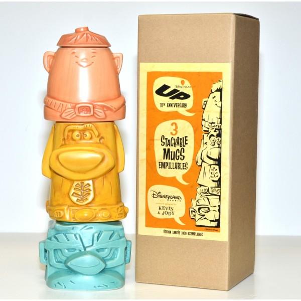 Disney Pixar Up! Carl,Dug & Russel stackable mugs Limited edition, Disneyland Paris