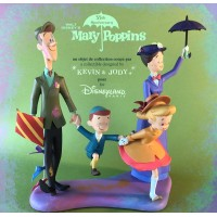Mary Poppins, Bert with Jane and Michael Banks in a chalk drawing Figure Limited Edition