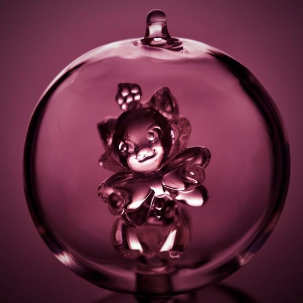 Disney Marie Christmas bauble, Arribas Glass Collection