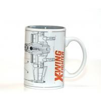 Disneyland Paris Star Wars X-Wing Fighter Sketch Mug
