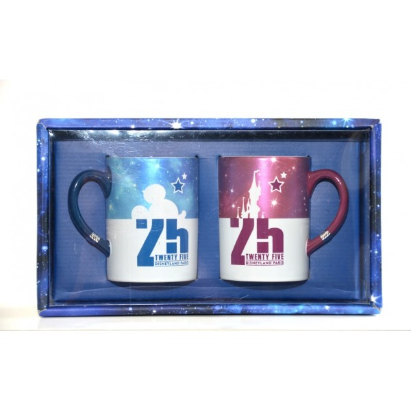 Disneyland Paris 25th Anniversary set of two Mugs