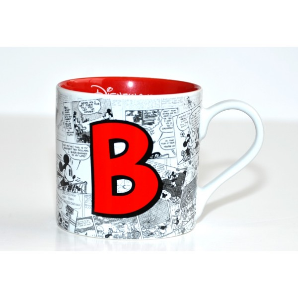 Mickey Mouse Comic-Style Print Mug with Letter B