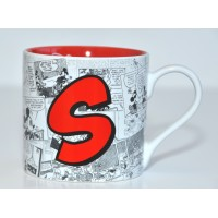 Mickey Mouse Comic-Style Print Mug with Letter S