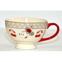 Minnie Mouse red bowl with handle, Disneyland Paris