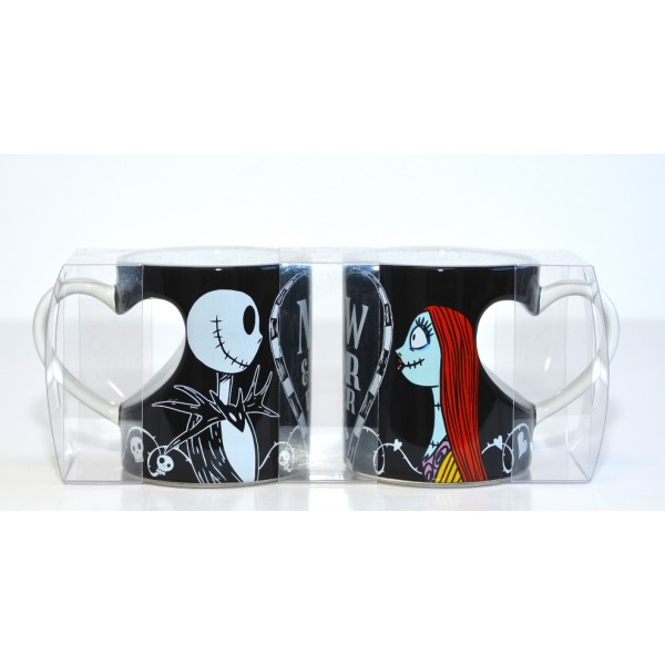 The Nightmare Before Christmas Jack and Sally Love Mug Set