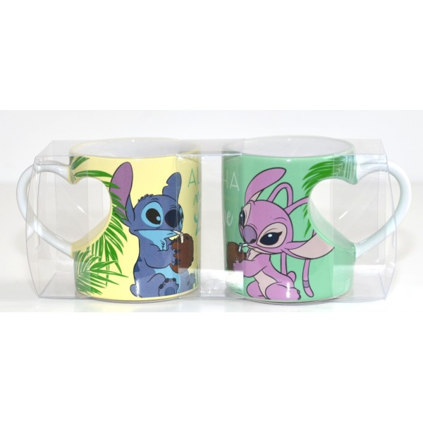Disney Stitch and Angel Couple Mug Set, Disneyland Paris